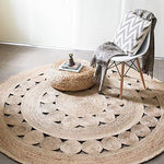 Handwoven Round Shape Single Piece Floor Rug - BohoEntice