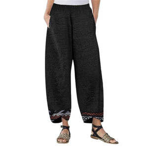 Women Loose Hippy Trousers Baggy Boho Aladdin Pants - BohoEntice