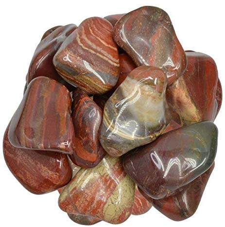 "1 lb Bloodstone (Sephtonite) Tumbled Stones from Africa - X Large - 1.5"" to 2.25"" - Polished Rocks and Gemstones for Art, Crafts, Fountains, Crystal Healing and More!: Home & Kitchen - BohoEntice"