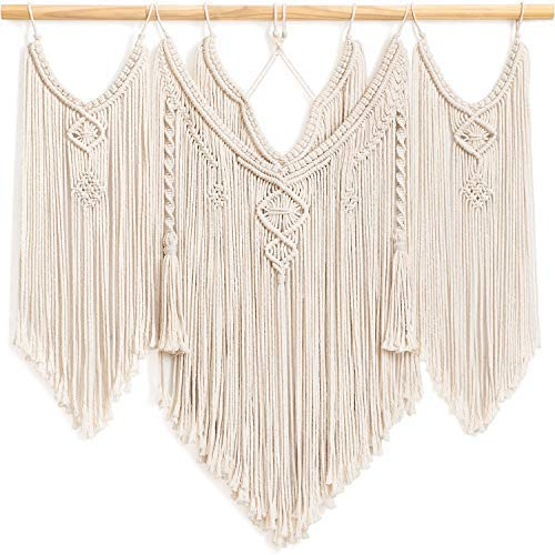"Large Macrame Wall Hanging Decor Boho Chic Tapestry Luxurious Woven Home Decoration for Apartment Bedroom Living Room Gallery Perfect Handmade Gift Ideas, 36""x29"": Home & Kitchen - BohoEntice"