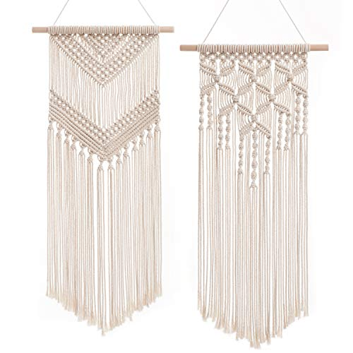 2 Pcs Macrame Wall Hanging Decor Woven Wall Art Macrame - BohoEntice