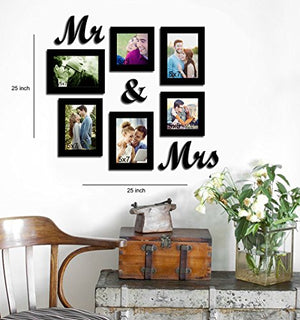Together Forever Set of 6 Individual Wall Photo Frames - BohoEntice