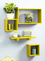 Wall Shelf with 4 Shelves (White) - BohoEntice