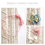 Macrame Hair Bow Holder Hanging Hair Clips Hanger Headband Storage Organizer Boho wall decor - BohoEntice