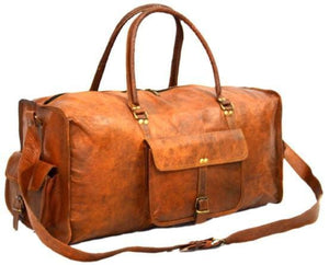 Dallas Rustic Brown Traveller Duffle Bag - BohoEntice