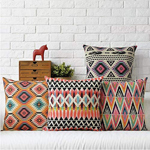 Velvet Decorative Throw Pillow/Cushion Covers (Multicolor) - Set of 4 - BohoEntice