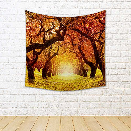 Autumn Landscape D8 Canvas Tapestry Wall Hanging 24 X 24Inch: - BohoEntice