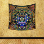 Floral Paisley Bandanna D10 Silk Tapestry Wall Hanging 40 X 40Inch - BohoEntice