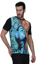 UV Glow Music-Intervention Multi Color T-Shirt for Men & Women - BohoEntice