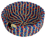 Handmade Braided Macrame Basket (8 inches x 8 inches x 3.5 inches) Multi-Purpose, Perfect for Decorations, Key Holder, Fruit Basket