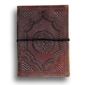 Brown Leather Stitching Notebook Handmade Diary - BohoEntice