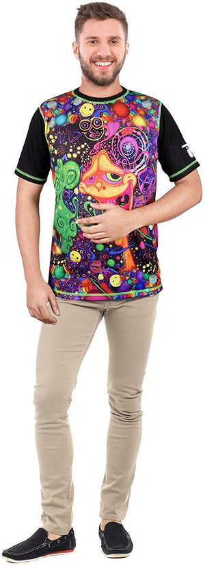 PSY-TOON-Intervention Multi Color T-Shirt for Men & Women - BohoEntice
