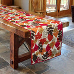 Multicolor Cotton Leave Dinning Table Runner - BohoEntice