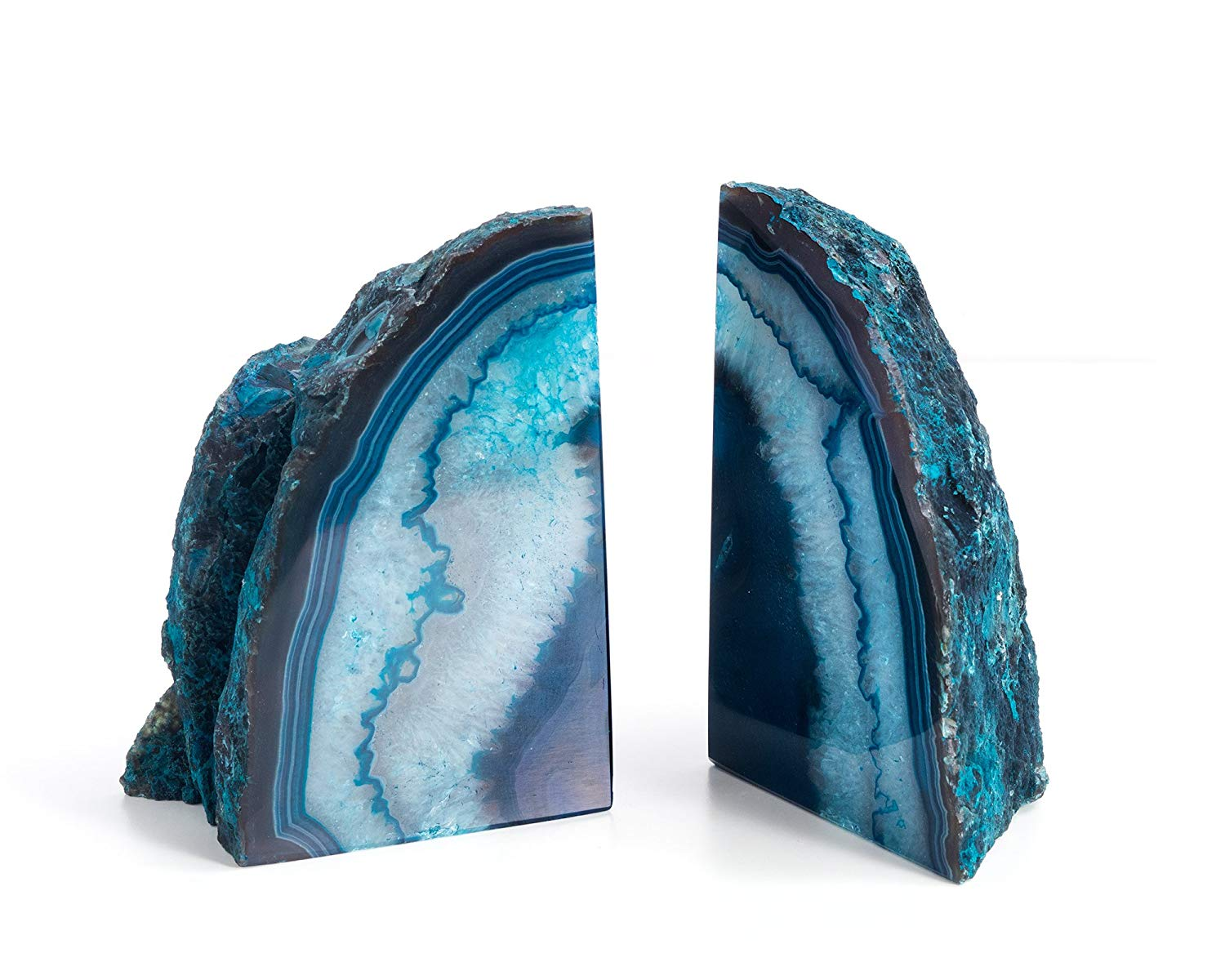 Geode Agate Book Ends for Office Decor and Home - BohoEntice
