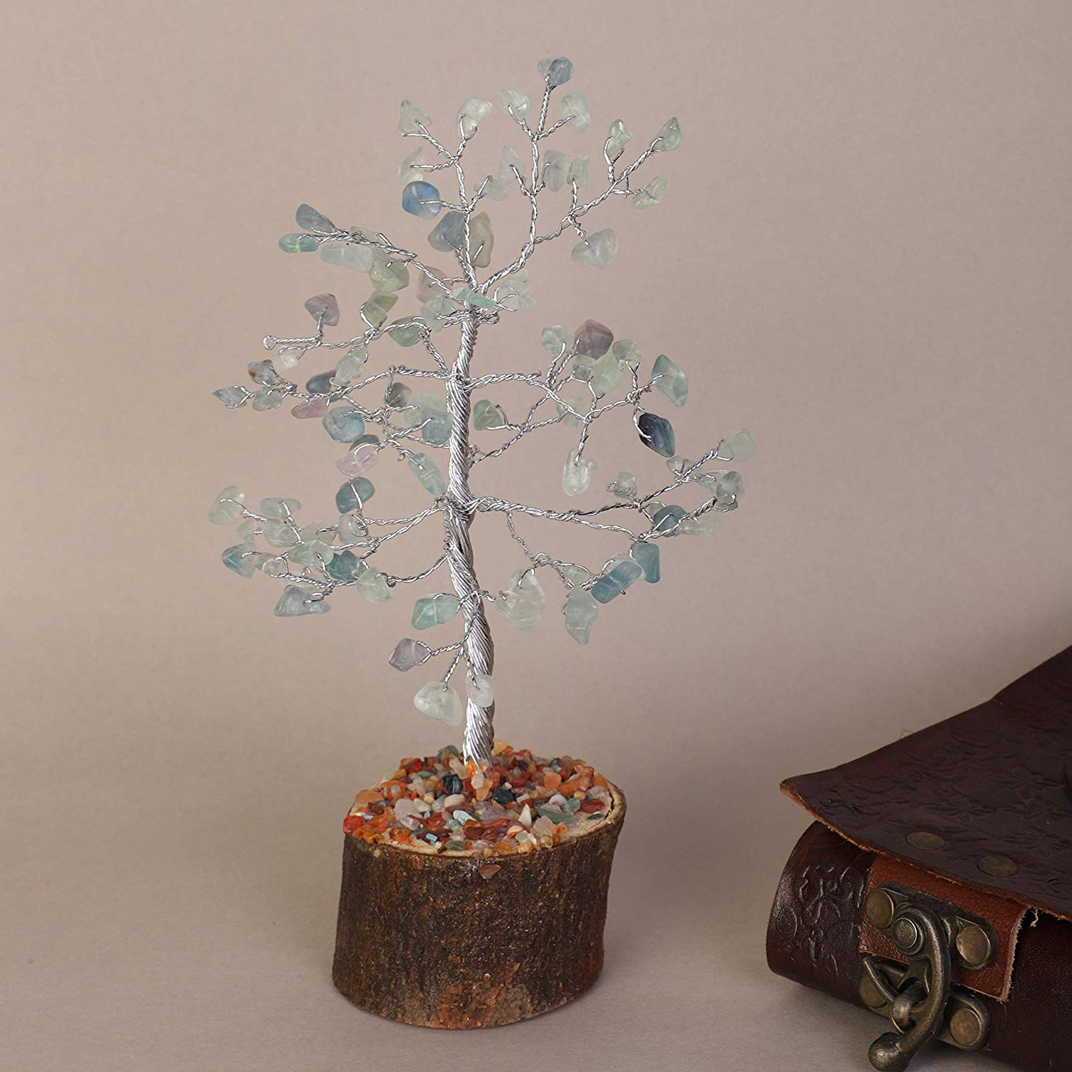 Gemstone Bonsai Money Tree - BohoEntice
