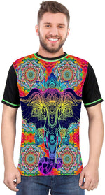 Ganesha-Mandela-World Multi Color T-Shirt for Men & Women - BohoEntice