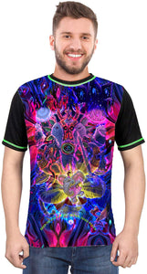 Ganesha-SHED-Anger-Meditation Multi Color T-Shirt for Men & Women - BohoEntice