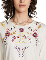 White Cotton Empire Dress For Women - BohoEntice