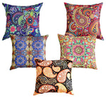 Abstract Multicolor Cotton Cushion Cover - BohoEntice