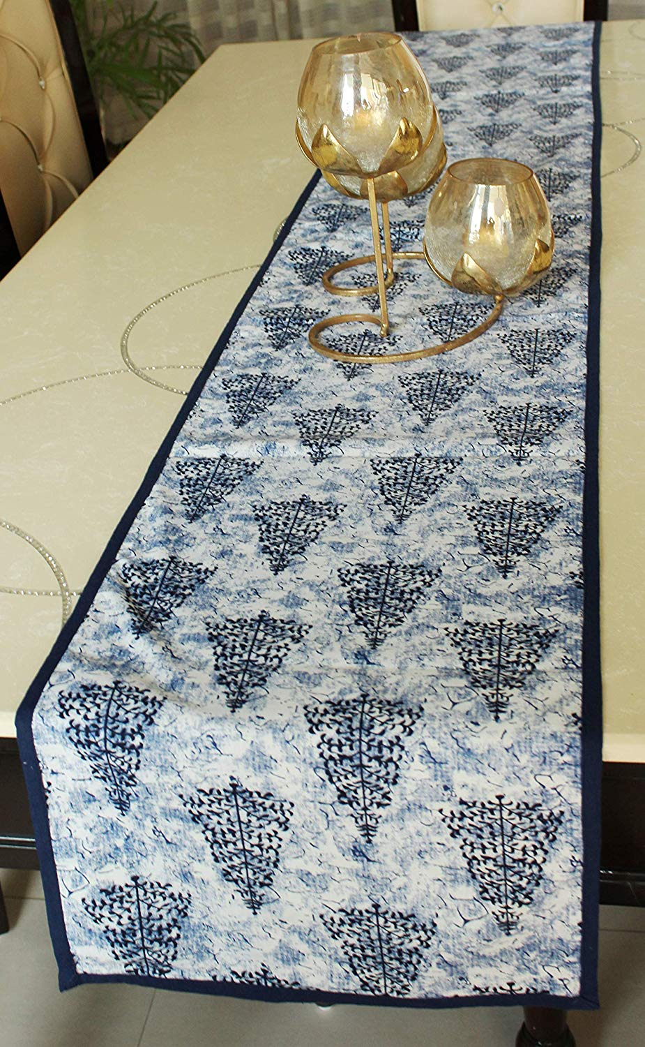 Cotton Reversible Printed Dining Table Runner - BohoEntice