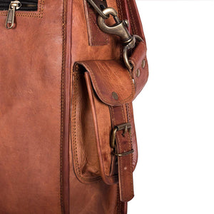 Classic Vintage Men's Andy Leather messenger Satchel Bag - BohoEntice