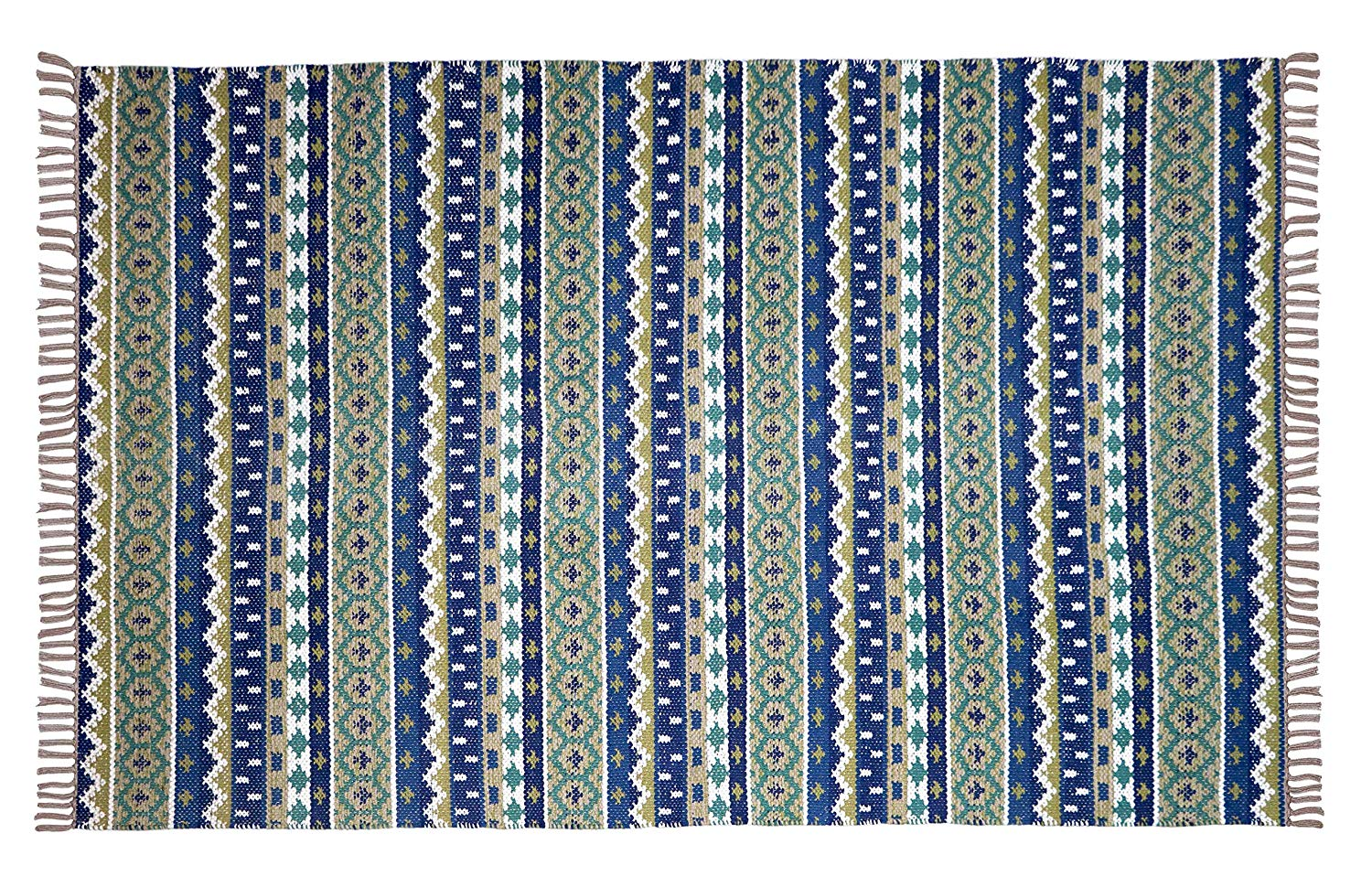 Beige Tribal Look Area Rug - BohoEntice