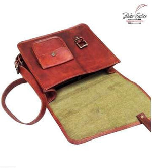 Contemporary Flap Crossbody Leather Sling Bag - BohoEntice