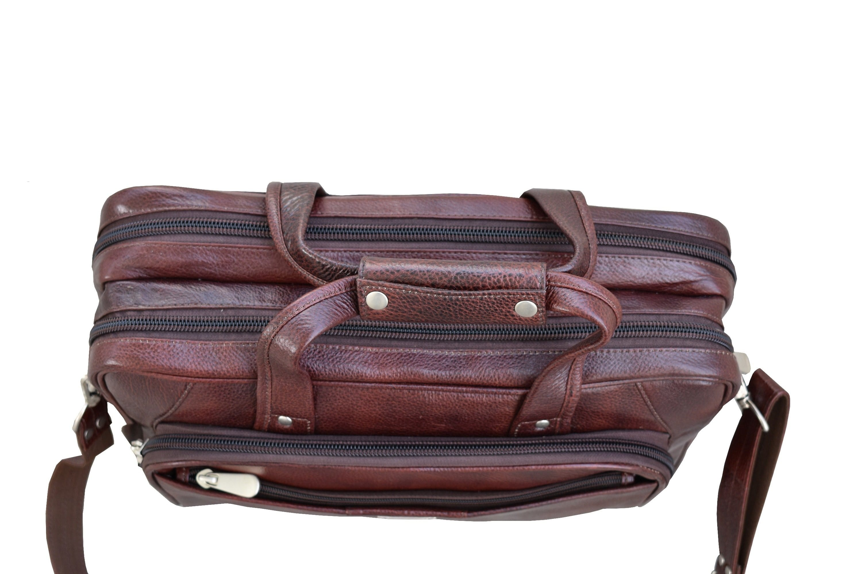 Genuine Leather Briefcase Laptop Bag - BohoEntice
