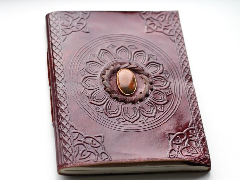 Embossed Leather LARGE Crystal Journal