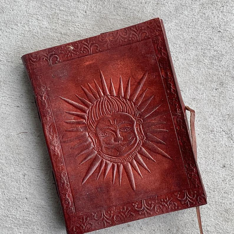 Greek God Of Sun Brown Leather Journal - BohoEntice