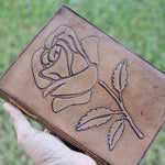 Rose Flower Gratitude Writing Leather Journal - BohoEntice