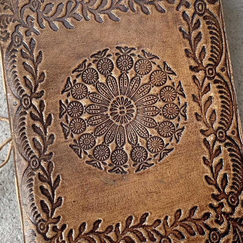 Handmade Gratitude Writing Leather Travel Journal - BohoEntice
