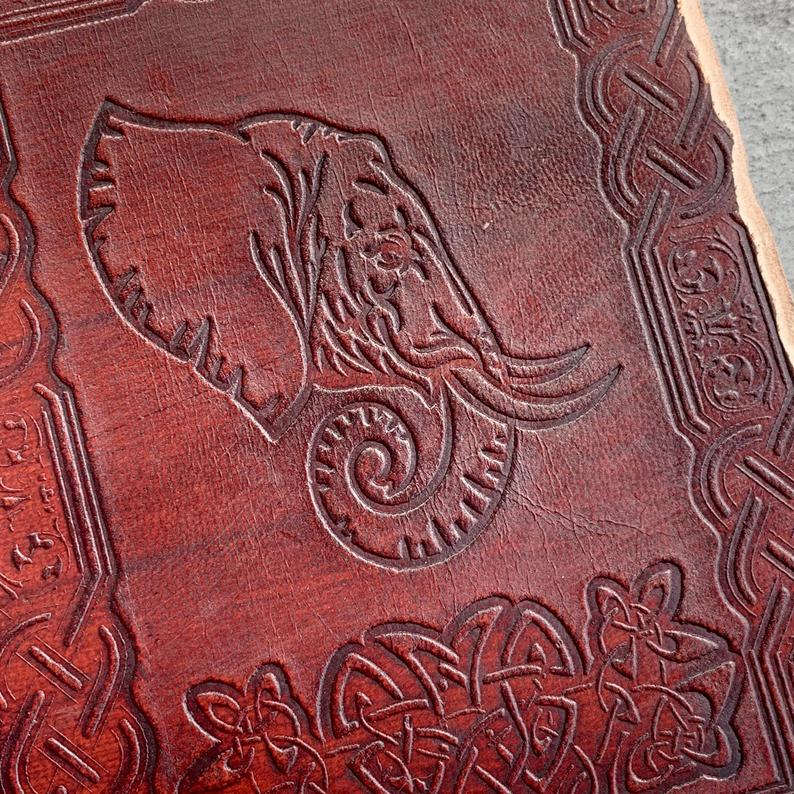 Elephant Writing Rustic Travel Journal - BohoEntice