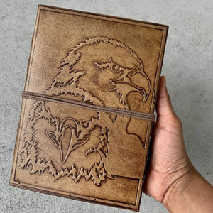 Handmade Eagle Brown Leather Journal - BohoEntice
