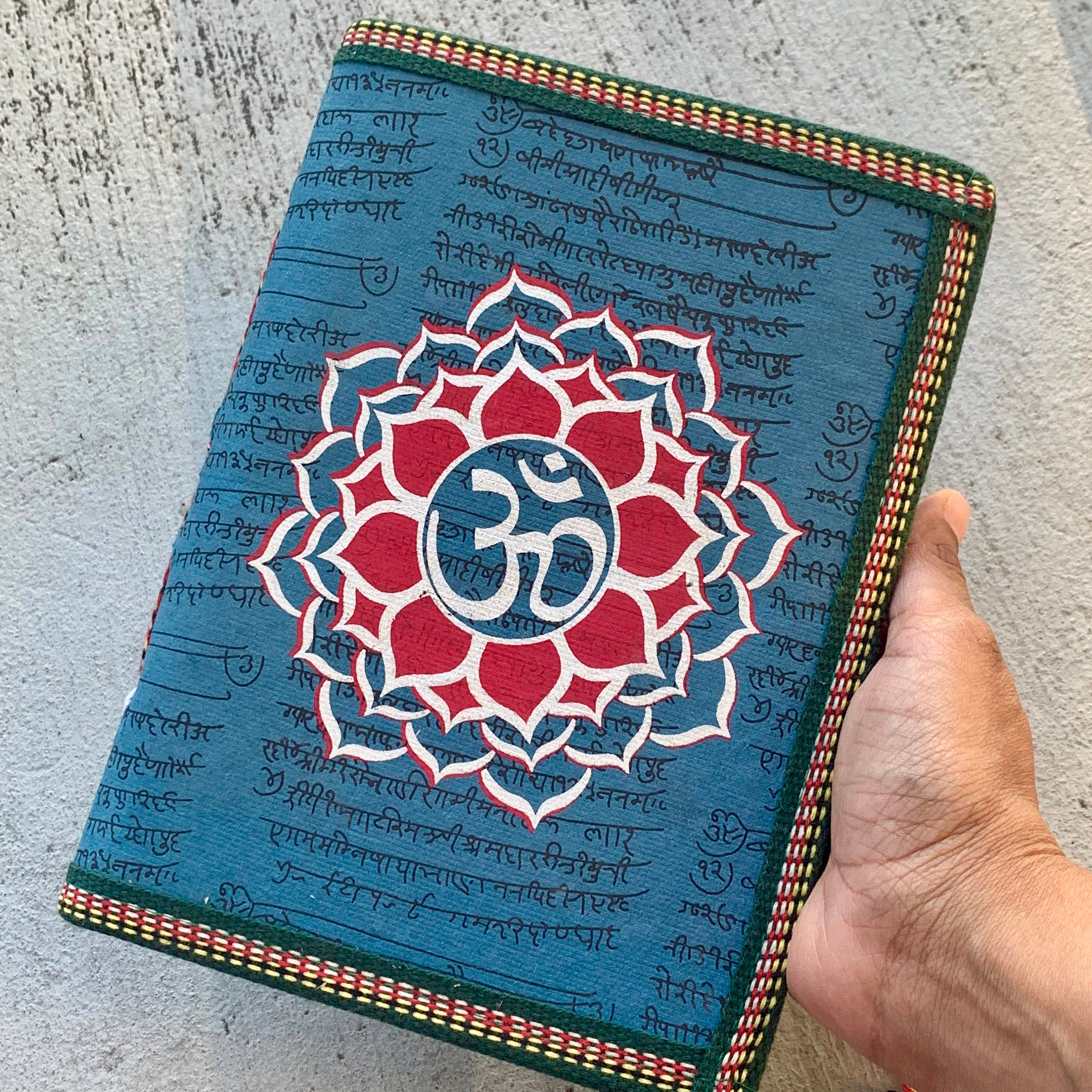 Ohm Mandala Handpainted Yoga Journal - BohoEntice