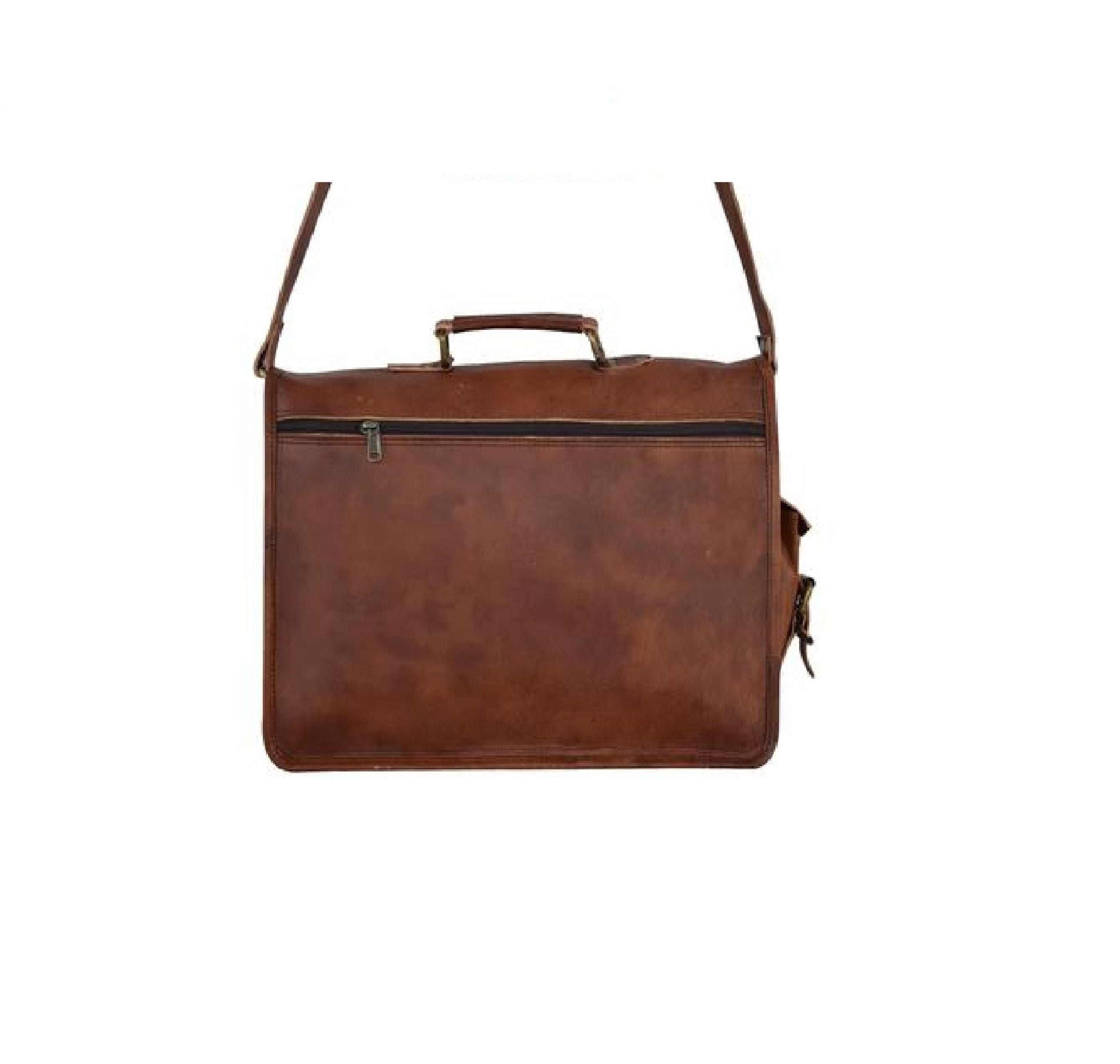 Xavier Vintage Men's Leather messenger Satchel Bag - BohoEntice