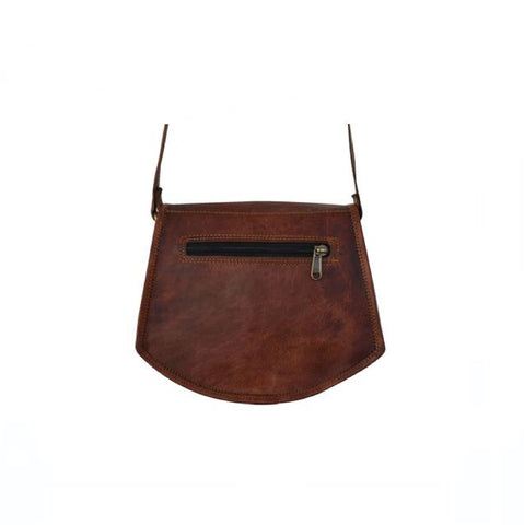 Hailey Retro Brown Sling Tote Bag - BohoEntice