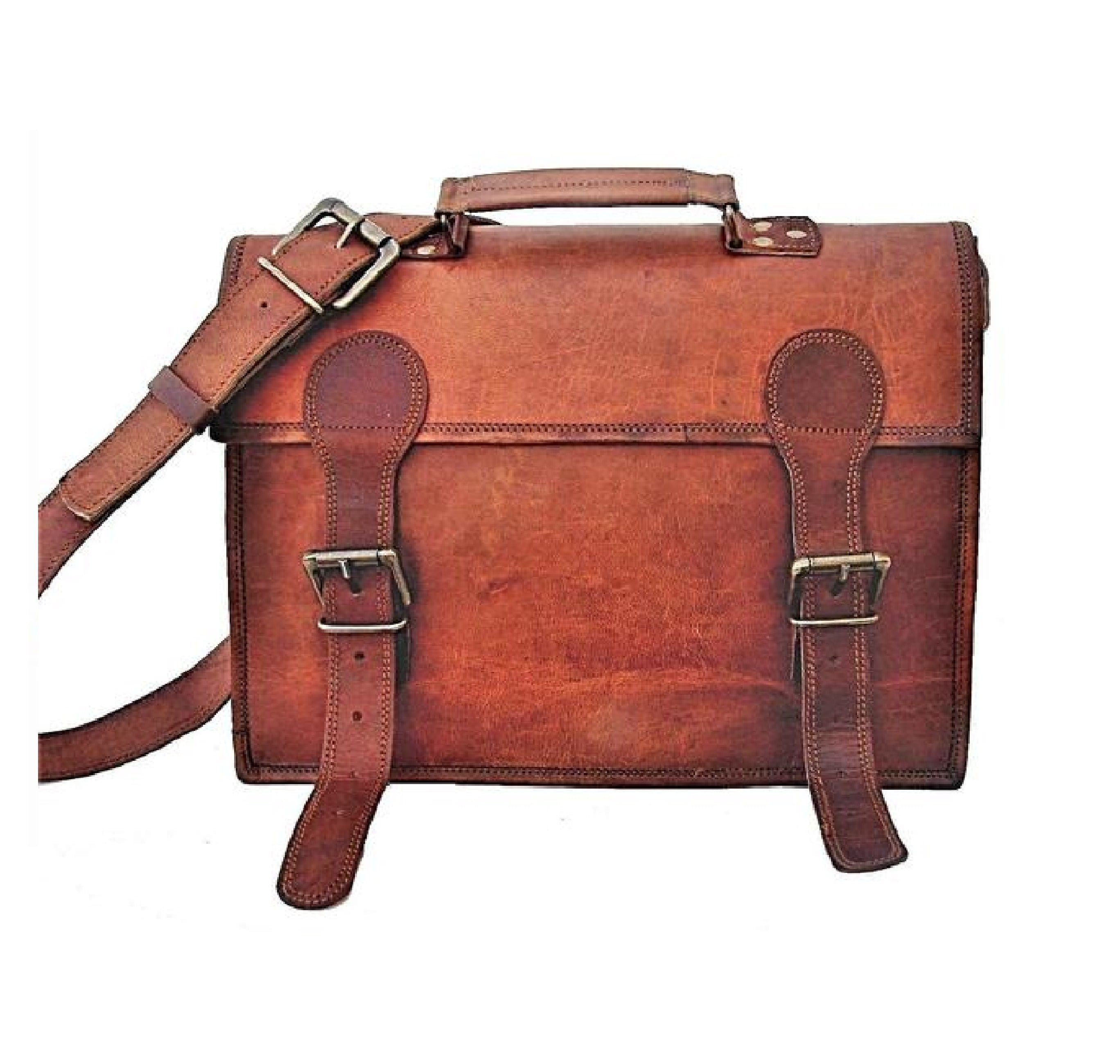 Leon Flap Satchel Sling Messenger Bag - BohoEntice