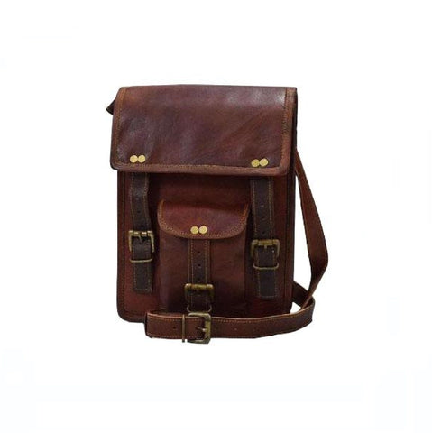 Soft Leather Satchel Messenger Crossbody Bag - BohoEntice