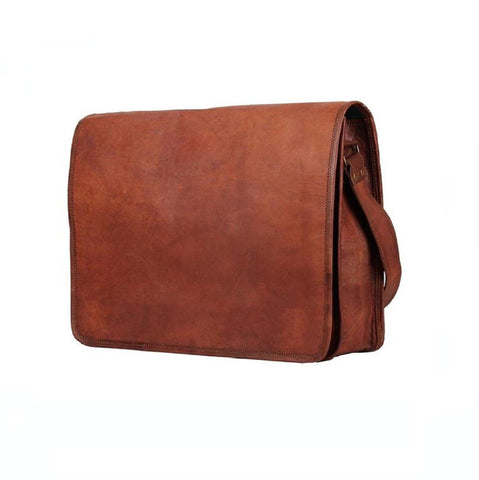 Full Flap Leather Sling Bag - BohoEntice