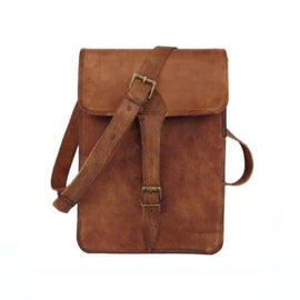 Lily Full Flap Retro Brown Sling shoulder Bag - BohoEntice