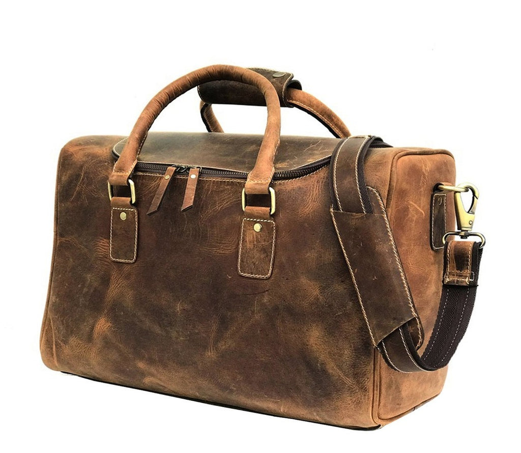 Premium Leather Travel Bag, Mens Portfolio Bag, Leather Laptop Bag - Halloween Gift