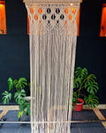 Macrame Curtains Shower Curtains Macrame Fabric  Door Decor Art