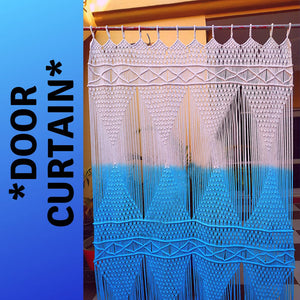 Beautiful Tie & Dye Macrame Curtains Doorway Curtain Door Decor