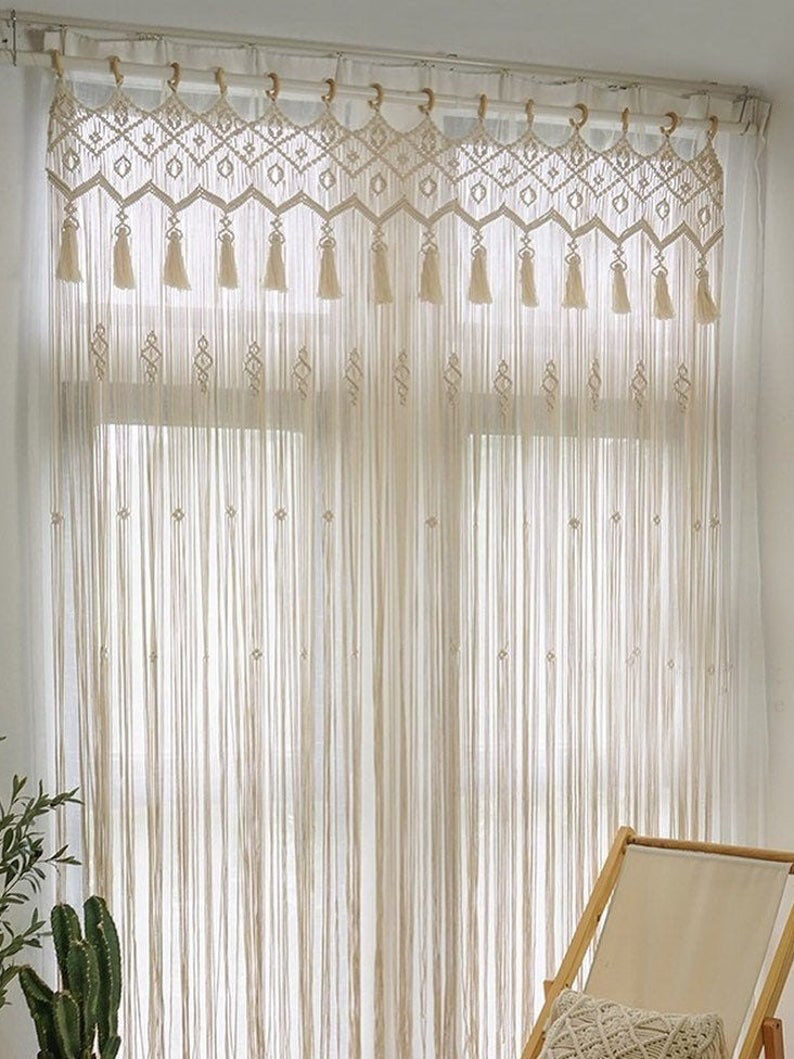 Boho Macrame Wall Hanging-Woven Wall Hanging-Macrame Wedding Backdrop - Macrame Curtains