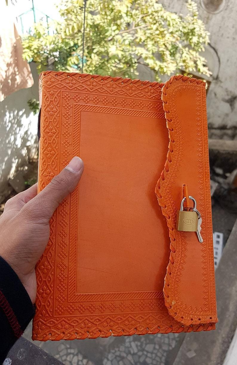Handmade Leather Travel Writing Notebook - BohoEntice