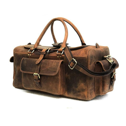 Jack Leather Duffel Bag - BohoEntice