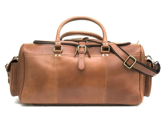 Cody Leather Duffel Bag - BohoEntice