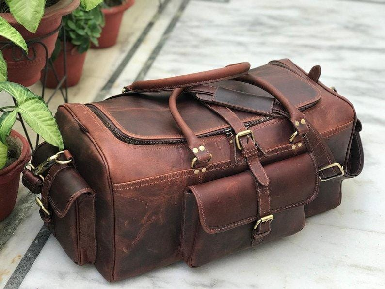 Wilson Leather Duffel Bag - BohoEntice