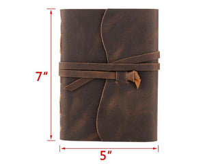 Handmade Leather Travel Writing Notebook Journal - BohoEntice